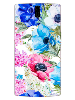 Hand Painted Floral OnePlus 1 Mobile Cover Case
