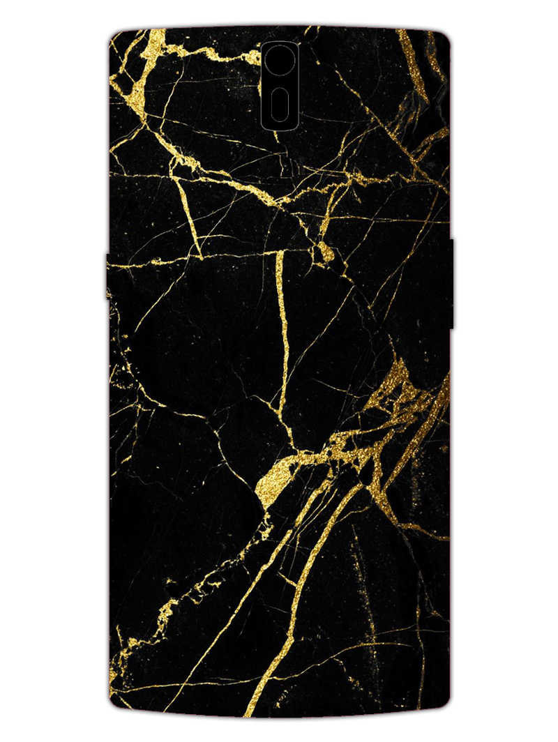 Classy Black Marble OnePlus 1 Mobile Cover Case
