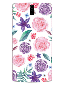 Floral Pattern OnePlus 1 Mobile Cover Case