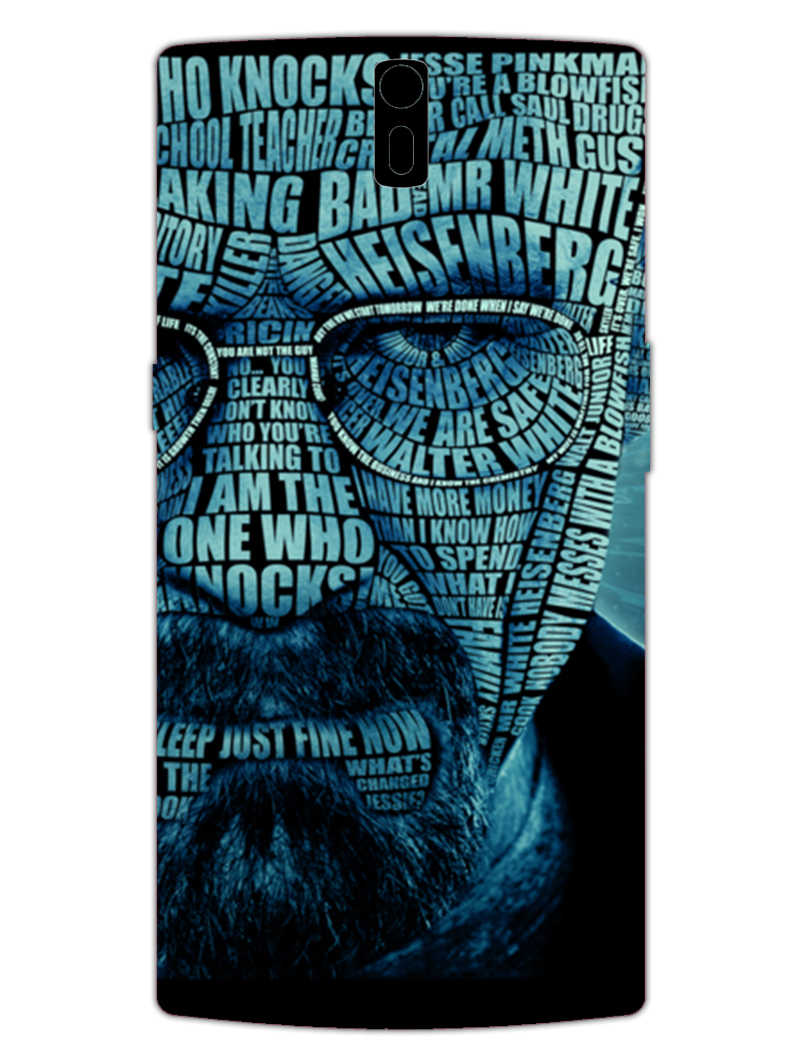 Heisenberg Typography OnePlus 1 Mobile Cover Case