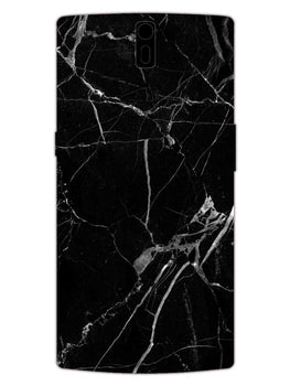 Black Marble Grey Veins OnePlus 1 Mobile Cover Case