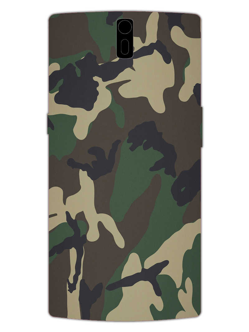 Camouflage OnePlus 1 Mobile Cover Case