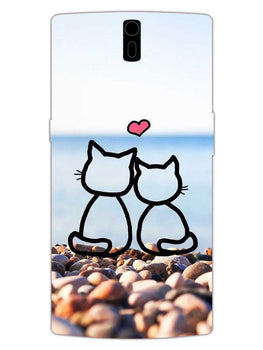 Cat Couple OnePlus 1 Mobile Cover Case