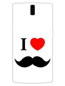 I Love Mustache Style OnePlus 1 Mobile Cover Case