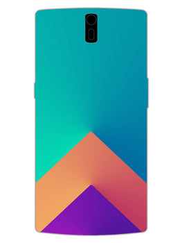 Triangular Shapes OnePlus 1 Mobile Cover Case