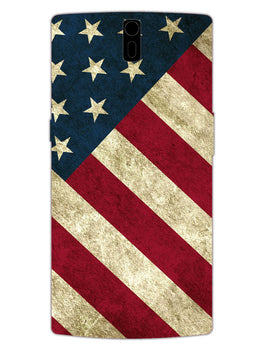 American Flag Art OnePlus 1 Mobile Cover Case