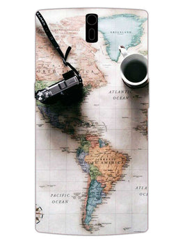 Wanderer's Map OnePlus 1 Mobile Cover Case