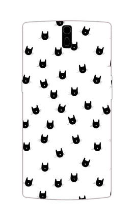 Cats Everywhere Cat Lovers OnePlus 1 Mobile Cover Case