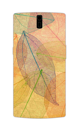 Colourful Leaves Art So Girly OnePlus 1 Mobile Cover Case