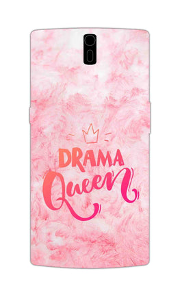Pink Drama Queen Girly Quote OnePlus 1 Mobile Cover Case