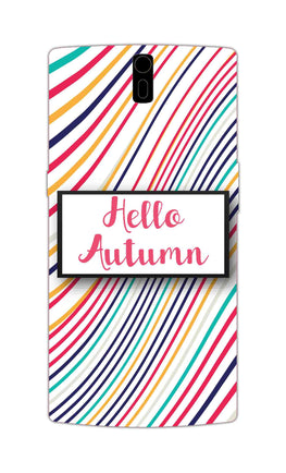 Lines Autumn For Artist OnePlus 1 Mobile Cover Case
