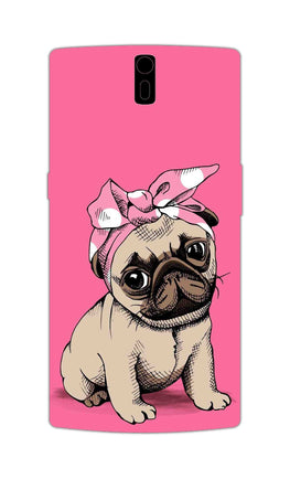 Princess Pug Dog Lovers So Girly OnePlus 1 Mobile Cover Case