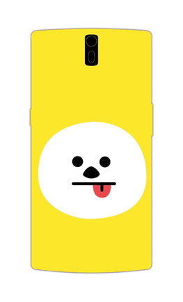 Tongue Out Smile Funny Face OnePlus 1 Mobile Cover Case