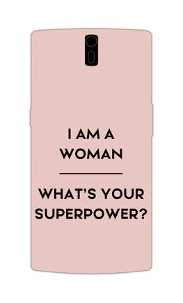 Woman Superpower Motivational Quote OnePlus 1 Mobile Cover Case