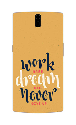 Never Give Up Motivational Inspirational Quote OnePlus 1 Mobile Cover Case