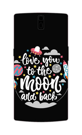 Love You Moon Space Surfing Lovers OnePlus 1 Mobile Cover Case