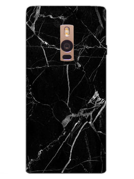 Black Marble Grey Veins OnePlus 2 Mobile Cover Case