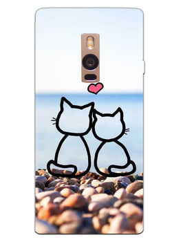 Cat Couple OnePlus 2 Mobile Cover Case