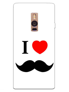 I Love Mustache Style OnePlus 2 Mobile Cover Case