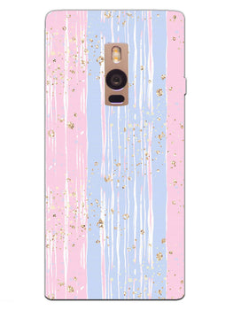 Pink And Blue Shade Lines OnePlus 2 Mobile Cover Case