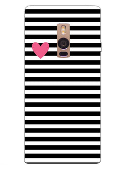 Heart In Stripes OnePlus 2 Mobile Cover Case