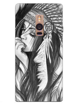 Triabal Girl Sketch OnePlus 2 Mobile Cover Case