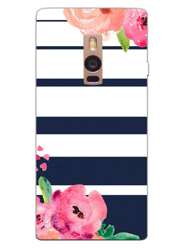 Floral Stripes OnePlus 2 Mobile Cover Case