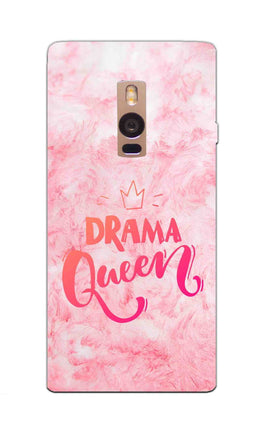 Pink Drama Queen Girly Quote OnePlus 2 Mobile Cover Case