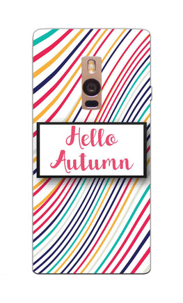 Lines Autumn For Artist OnePlus 2 Mobile Cover Case