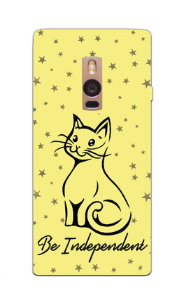 Be Independent Cat Motivational Quote OnePlus 2 Mobile Cover Case
