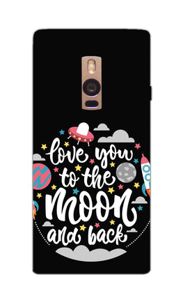 Love You Moon Space Surfing Lovers OnePlus 2 Mobile Cover Case