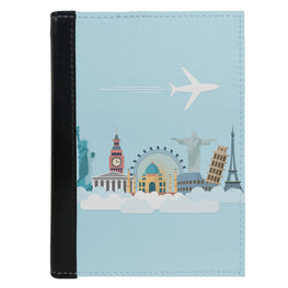 Passport Cover Passport Holder - For Men and Women Travel With World Art