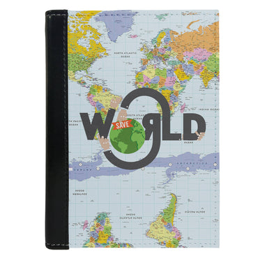 Passport Cover Passport Holder - For Men and Women World Map Typography