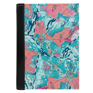 Passport Cover Passport Holder - For Men and Women Colourful Southern Map