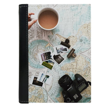 Passport Cover Passport Holder - For Men and Women Capture Travel Map Images With Camera