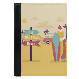 Passport Cover Passport Holder - For Men and Women Flat Tropical Beach Art For Beach Lovers
