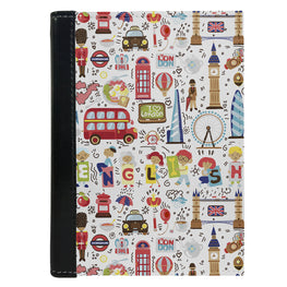 Passport Cover Passport Holder - For Men and Women London Travel Elements