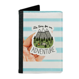 Passport Cover Passport Holder - For Men and Women Its Time For An Adventure