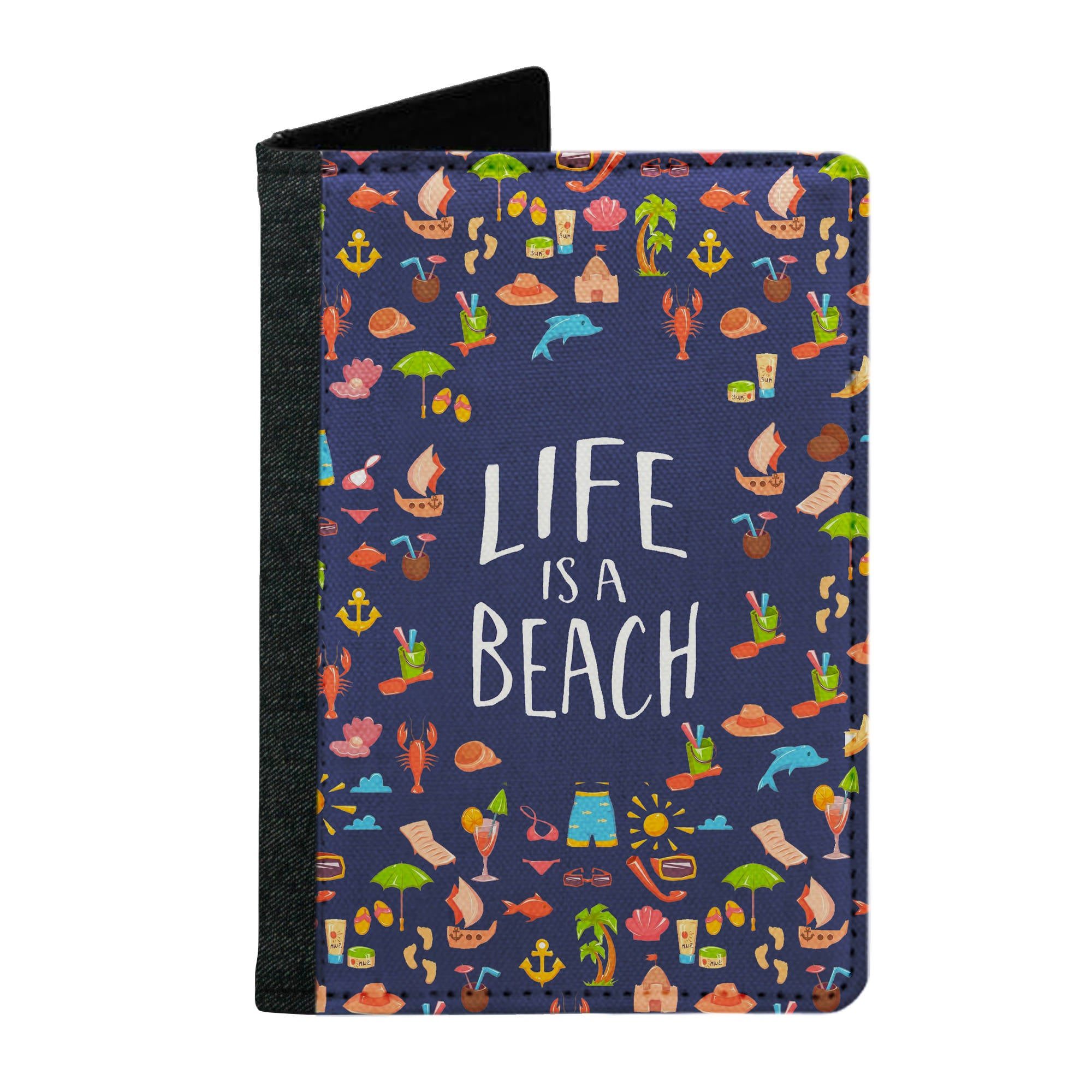 Passport Cover Passport Holder - For Men and Women Life Is A Beach Beach Lovers