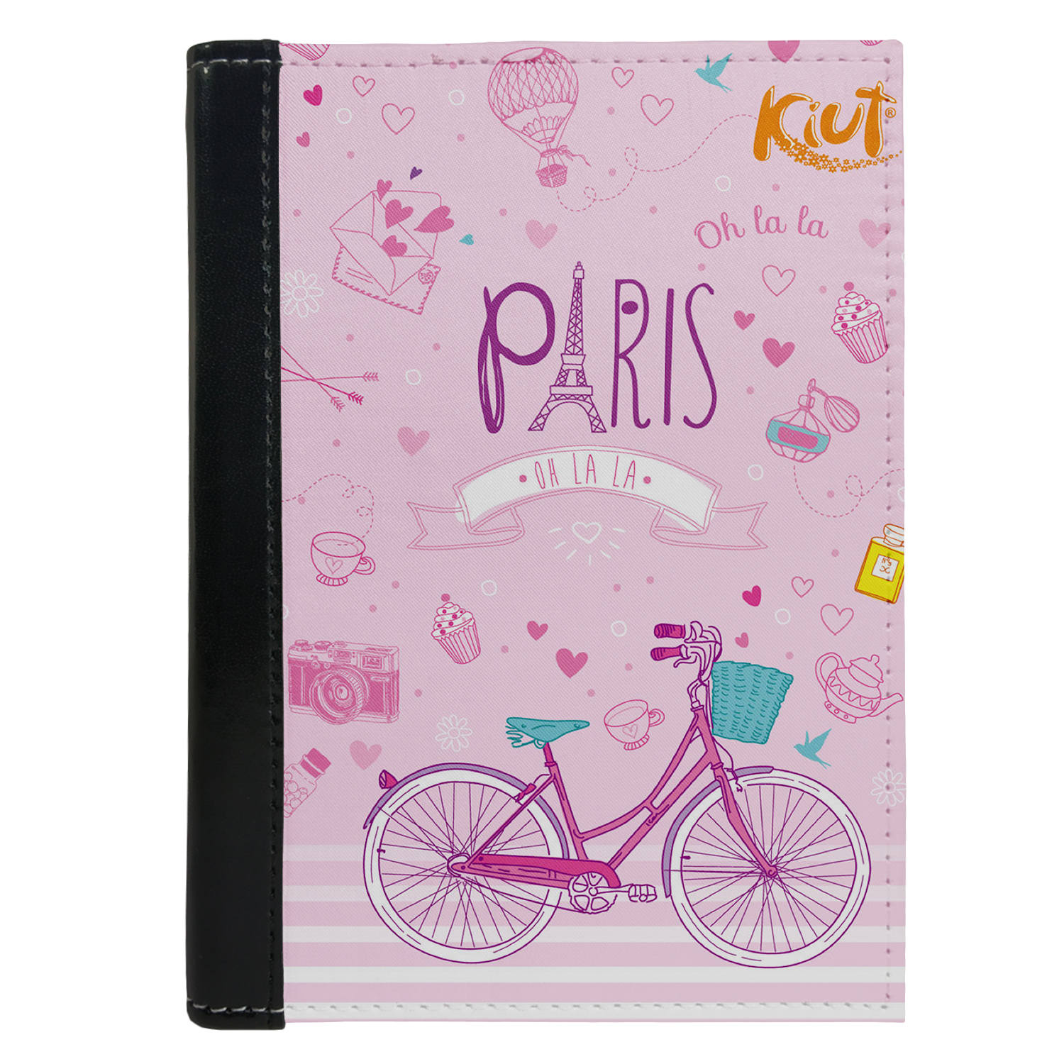 Passport Cover Passport Holder - For Men and Women Paris With Cycle Art