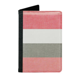 Passport Cover Passport Holder - For Men and Women Pink And White Strips