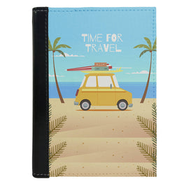 Passport Cover Passport Holder - For Men and Women Time For Travel