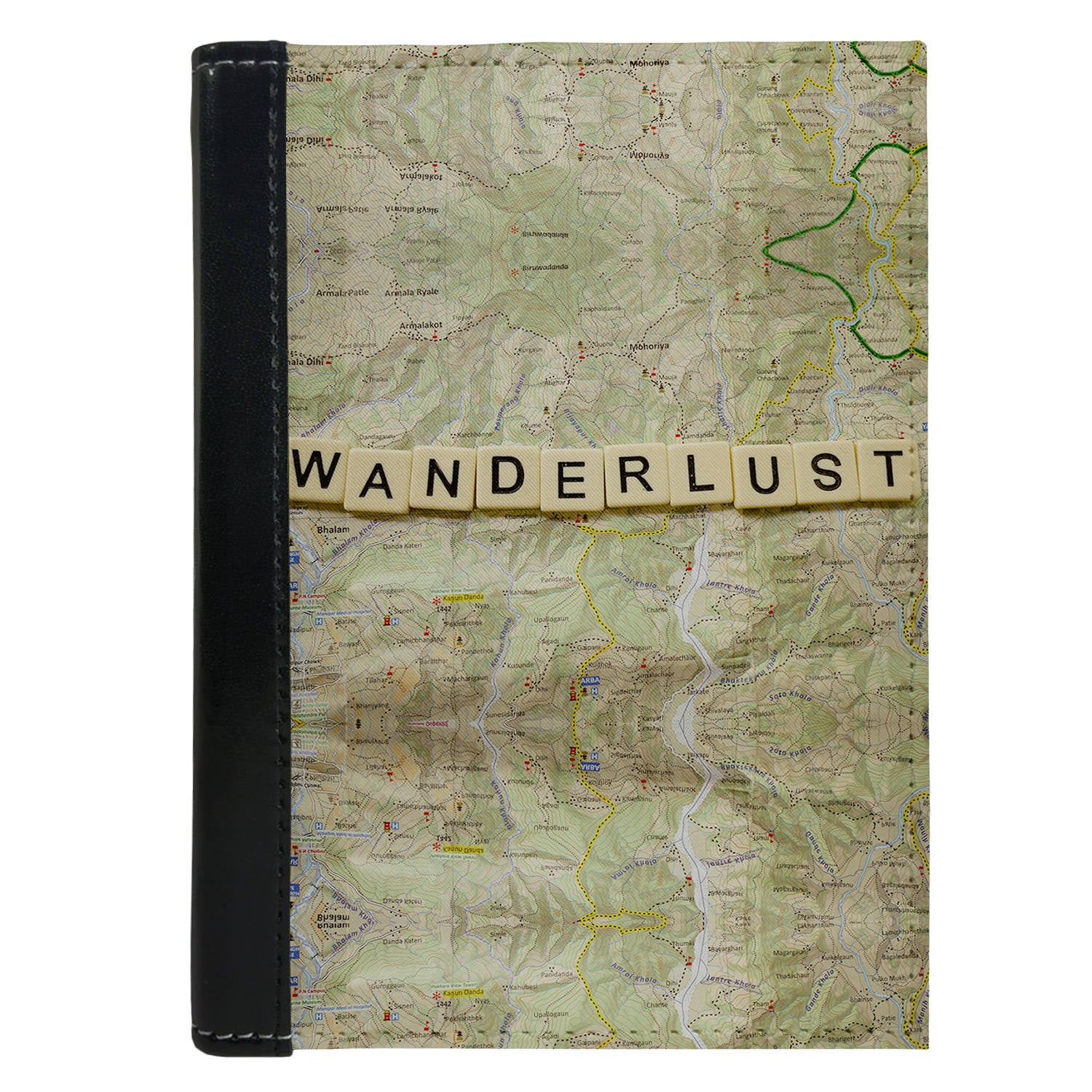 Passport Cover Passport Holder - For Men and Women Wanderlust Map Globe