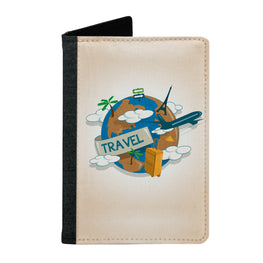 Passport Cover Passport Holder - For Men and Women Travel With Globe Art For Artist