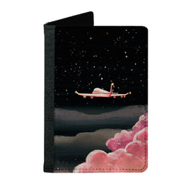 Passport Cover Passport Holder - For Men and Women Travel With Clouds And Stars