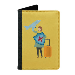 Passport Cover Passport Holder - For Men and Women Girl Travel With Luggage On Aeroplane