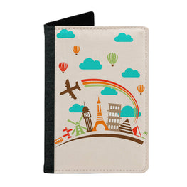 Passport Cover Passport Holder - For Men and Women Travel Eveywhere With Rainbow Colours