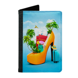 Passport Cover Passport Holder - For Men and Women Travelling Sandal Beach Lovers
