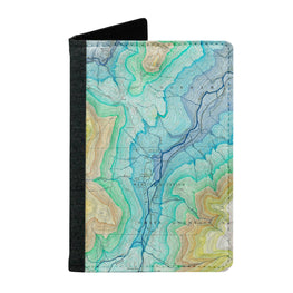 Passport Cover Passport Holder - For Men and Women Colourful Map