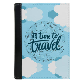 Passport Cover Passport Holder - For Men and Women Its Time To Travel In Cloudes Beach Lovers